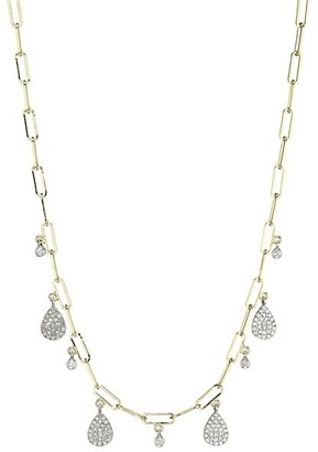 Meira T 14K Yellow Gold & Diamond Pave Charm Necklace