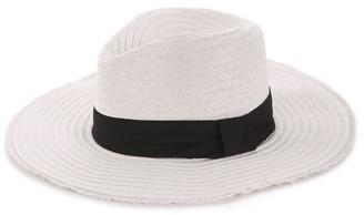 Kelly & Katie Frayed Edge Panama Hat