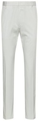 HUGO BOSS Extra Slim Fit Stretch Cotton Pants With Belt Loops - White