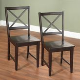 Tms virginia crossback 2-pc. dining chair set