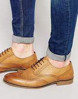 Red Tape Smart Brogues In Tan Leather