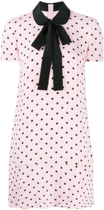 RED Valentino Polka-Dot Short-Sleeve Dress