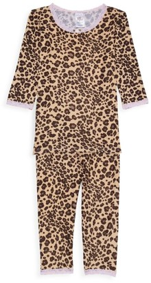 Esme Little Girl's & Girl's Leopard-Print 2-Piece Pajama Set