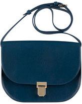 A.P.C. Vienne Leather Saddle Bag, Blue