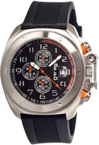 Breed Silver & Black Sander Chronograph Watch