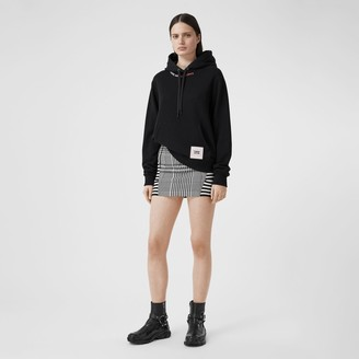 Burberry Quote Print Cotton Oversized Hoodie