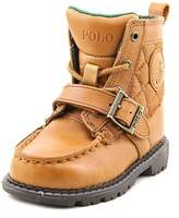Polo Ralph Lauren Ranger Hi Ii Round Toe Leather Ankle Boot.