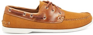 Quoddy Classic Suede Boat Shoes - Mens - Brown