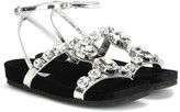 Miu Miu Crystal-embellished leather sandals