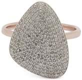 Monica Vinader Rose Gold-Plated Nura Teardrop Diamond Ring