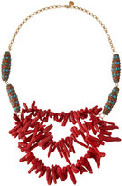 Devon Leigh 24k Gold-Plated Coral & Turquoise Statement Necklace