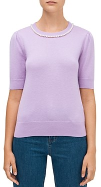 Kate Spade Pearl-Trimmed Sweater