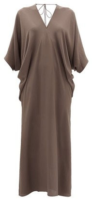 Thea - The Chara Dolman-sleeve Silk-satin Maxi Dress - Womens - Grey