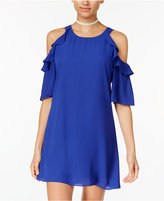 B. Darlin Juniors' Cold-Shoulder Dress