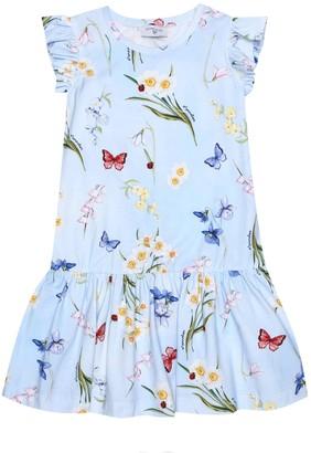 MonnaLisa Floral stretch-cotton dress