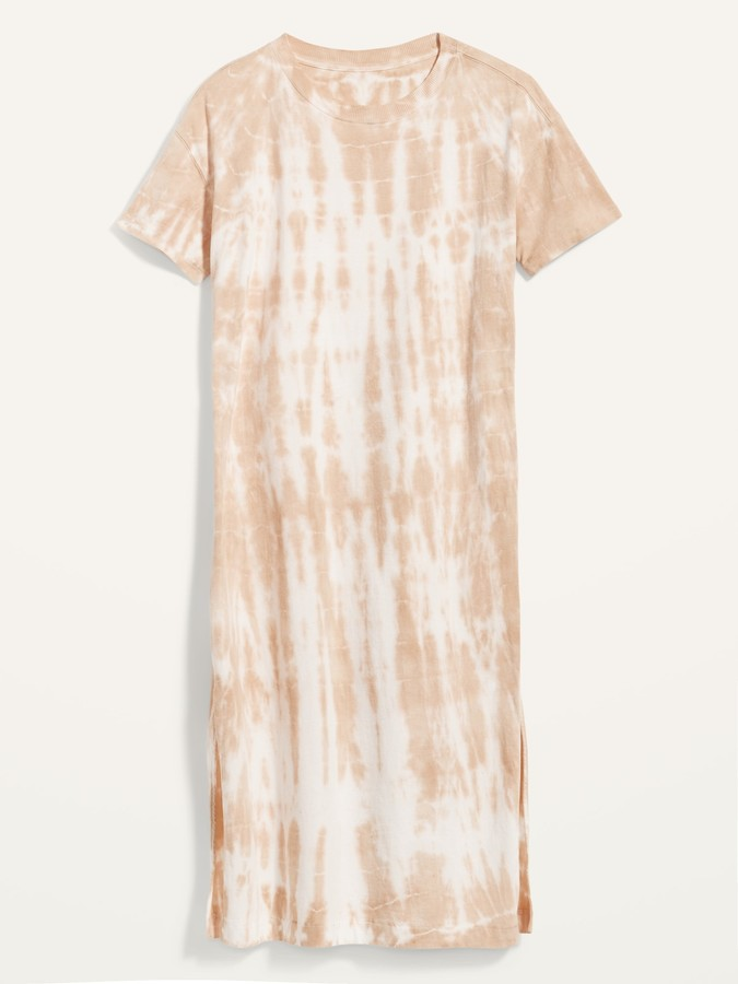 Thumbnail for your product : Old Navy Loose Vintage Tie-Dyed Midi T-Shirt Shift Dress for Women
