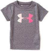 Under Armour Little Girls 2T-6X Foiled Big Logo Short-Sleeve Tee