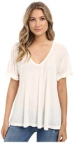 Free People Tri Blend Free Falling Tee Women's Short Sleeve Pullover