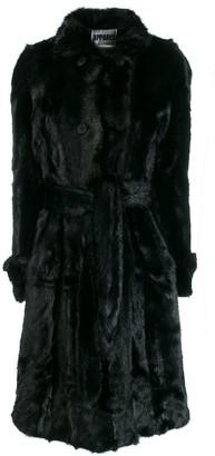 Apparis Belted Faux-Fur Coat