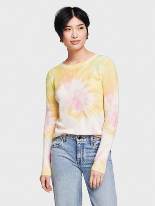 White + Warren Cashmere Tie Dye Essential Crewneck