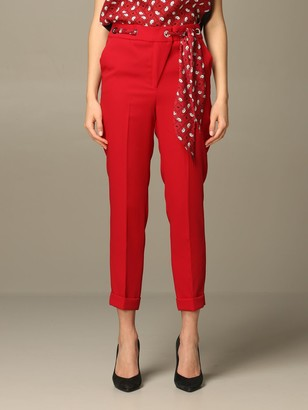 Liu Jo Classic Trousers With Patterned Scarves