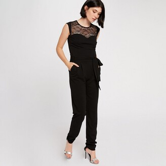 Morgan Lace Short-Sleeved Jumpsuit