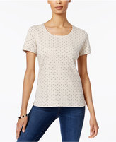 Karen Scott Dot-Print T-Shirt, Only at Macy's