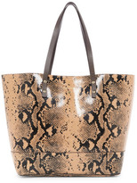 Cole Haan Beckett Leather Snake Print Tote
