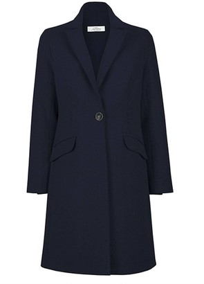 Wool Cashmere Tailored Coat - French Navy