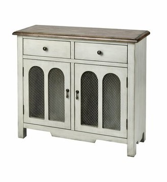 Ted 2-door 2-drawer Cabinet In Antique White Gracie Oaks Color: Dovetail Gray