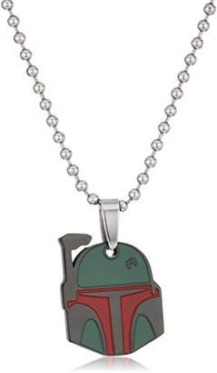 Star Wars Jewelry Unisex Boba Fett Stainless and Enamel Kid's Pendant Necklace