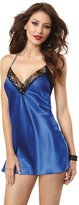 Dreamgirl Women's Tie Back Satin Chemise