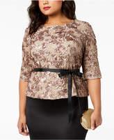Alex Evenings Plus Size Sequined Lace Top