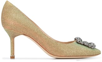 Manolo Blahnik Hangisi 70mm embellished buckle pumps