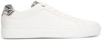 HUGO BOSS Meissen-print leather sneakers