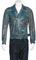 Marc Jacobs Distressed Leather Moto Jacket
