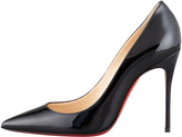Christian Louboutin Decollete Patent Leather Stiletto Red Sole Pump