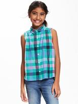 Old Navy Relaxed Sleeveless Swing Top for Girls