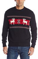 Dockers Reindeer Cotton Crew Holiday Party Sweater