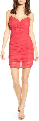 Leith Crossover Front Ruched Minidress