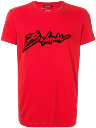 Balmain terry logo patch T-shirt
