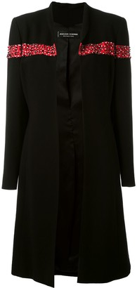 Jean Louis Scherrer Pre Owned Sequin And Bead Embellished Coat