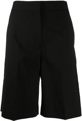 MSGM Tailored Side-Stripe Shorts