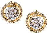 Nadri Cubic Zirconia & Crystal Clip-On Button Stud Earrings