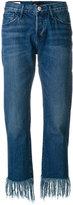 3x1 tassel fringed jeans