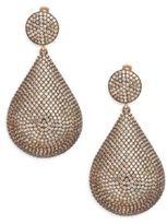 Azaara Pave Champagne Crystal Teardrop Earrings