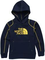 The North Face Kids - Boys' Surgent Pullover Hoodie 12 (Little Kids/Big Kids) (Deep Water Blue/Leopard Yellow) - Apparel