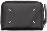 Maison Margiela Black Compact Zip Around Wallet