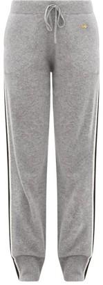 Bella Freud Suzuka Side-stripe Cashmere-blend Track Pants - Womens - Grey