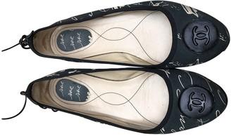 Chanel Black Cloth Ballet flats